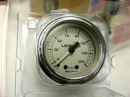 'BRAND NEW' Legend Silver Face Dash Air Gauge with back-light.