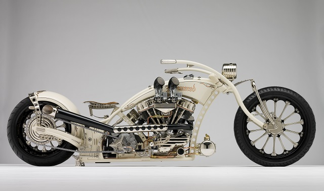 Independent Cycle East Hammered Lowlife Custom Motorcycle.